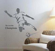 Domire We Are The Champions Quotation A Man Playing Footb…