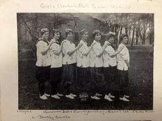 L to R, Mayme McCall, Genevieve Drake, Dorothy Armstrong, Glenna Loe, Nell Miller, Dorothy Counts, unidentified.