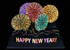 """Pop-Up Card """"Fireworks – Happy New Year"""""""