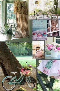 Wonderful collage of the English Cottage Life!