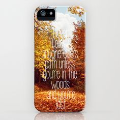 lost in the woods iPhone Case by Sylvia Cook Photography - $35.00  #iphonecase #samsungS4 #samsungcase #phonecase