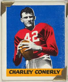 Leaf Gum, Co., Chicago, IL. Charley Conerly, from the All-Star Football series (R401-2), issued by Leaf Gum Company, 1948. The Metropolitan Museum of Art, New York. The Jefferson R. Burdick Collection, Gift of Jefferson R. Burdick (Burdick 326, R401-2.46) #MetGridironGreats