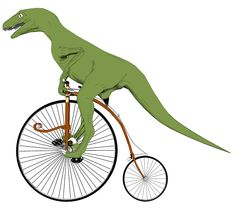 Raptor on a Penny Farthing