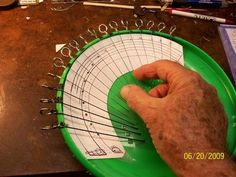Picture of MAKE A MINI-HARP FROM A PLASTIC THROWING DISC