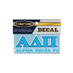 Campus Classics - New! ADPi Greek Letter Decal: $5.95