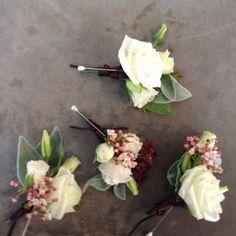 Blanc,buttonholes,white,pure,divine,lisianthus bridal bouquet www.studiobloom.com