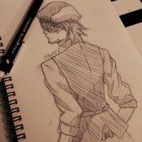 Kotetsu Kaburagi Sketch by Tiha90