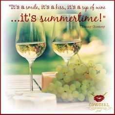 A smile, a kiss, a sip of wine - Indeed it is summertime!