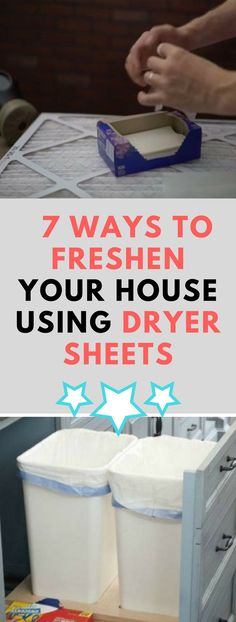7 Ways to Freshen Your House Using Dryer Sheets!