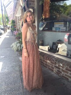 Silk maxi dress stunning for romantic dinner or ladies lunch