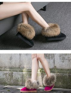 Premium Fox Fur - Designer Snow Boots – GemCoral Winter Fashion Boots, Winter Boots, Cute Snow Boots, Christmas Gifts For Girls, Fox Fur, High Heels, Shoes, Women Sandals, Zapatos