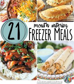 21 Mouth-Watering Freezer Meals - Dinner problems SOLVED!