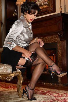 Secrets In Lace is the worlds premier supplier of authentic 100% nylon stockings, elegant lingerie, garter belts, girdles and bullet bras