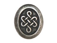 3 Oval Celtic Knot Metal Shank Buttons 3/4 inch 20 by ButtonJones, $3.50