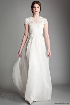 Japonica Silk Organza Wedding Gown By Temperley London - 2013 Collection - (weddinginspirasi)