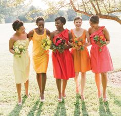 The Bridesmaids and the Flower Girls - From Warm Shades to Jewel Tones – Best Wedding Colours for Dark Skin - EverAfterGuide