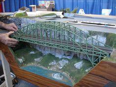 Track Layout Ideas for Your Model Train N Scale Train Layout, Model Train Layouts, Hobby Lobby Furniture, N Scale Model Trains, Railroad Bridge, Hobby Trains, Bridge Design, Train Set, Train Tracks
