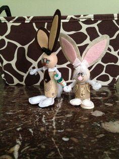 Wine cork bunnies