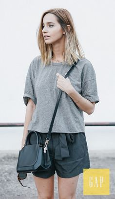 Meet the paperbag-waist short, a must-have for summer. Dress them down with simple tees or dress them up with chic tops and heels. Jewelry designer Jess Hannah wears hers for a day of wandering around L.A. Shop them now from Gap.