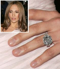 Jennifer Lopez From Marc Anthony Celebrity Rings Engagement Ring Photos