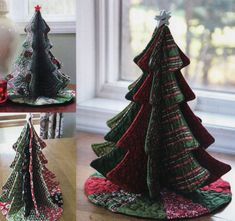 Diy Sewing Projects Tabletop Tannenbaum sewing pattern by Poorhouse Quilt Designs Christmas Sewing Projects, Christmas Crafts, Christmas Decorations, Fabric Christmas Trees, Thanksgiving Crafts, Christmas Stuff, Sewing Hacks, Sewing Tutorials, Sewing Patterns