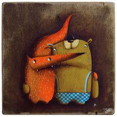 Robert Romanowicz illustration: Misiek i Lis