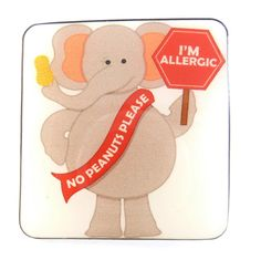 No Peanuts  I'm Allergic Elephant Pin or Brooch by buttonsbyrobin
