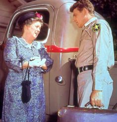 Barney and Andy hang out around the sheriff's station - The Andy Griffith Show Picture