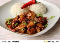Kuřecí nudličky na pivu a balsamiku recept - TopRecepty.cz Kung Pao Chicken, Meat, Ethnic Recipes, Food, Beef, Meal, Hoods, Eten, Meals