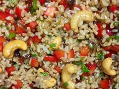 Recipe The Best Oriental Brown Rice Salad by jezzymoo, learn to make this recipe easily in your kitchen machine and discover other Thermomix recipes in Side dishes. Best Rice Salad Recipe, Rice Salad Recipes, Brown Rice Recipes, Rice Dishes, Food Dishes, Dishes Recipes, Brown Rice Cooking, Feta, Brown Rice Salad