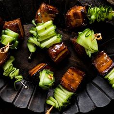 Pork belly skewers with Vietnamese caramel sauce recipe