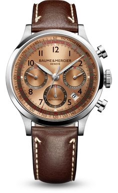Discover the Capeland 10004 automatic chronograph watch for men, designed by Baume et Mercier, Swiss Watch Maker.