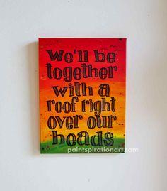 Music Art Bob Marley Art Song Lyrics Wall Art  by Paintspiration, $69.00