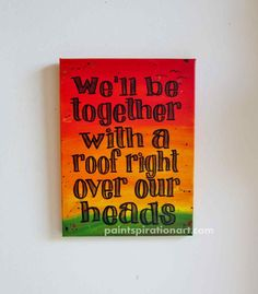 Music Art Bob Marley Art Song Lyrics Wall Art by Paintspiration, $69.00