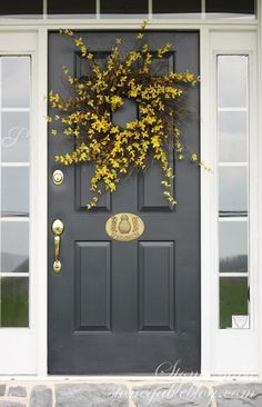 FORSYTHIA WREATH TUTORIAL - StoneGable