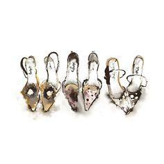 Buy Bridget Davies - Party Shoes 2 Online at johnlewis.com 60 x 80cm £90