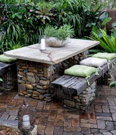 43 Ideas Rustic Garden Furniture Patio Sets For 2019 Rustic Backyard, Backyard Patio, Backyard Landscaping, Backyard Ideas, Landscaping Ideas, Patio Ideas, Corner Landscaping, Backyard Layout, Decking Ideas