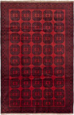 $674 - Hand-knotted-Afghan-Carpet-610-x-104-Khal-Mohammadi-Traditional-Tribal-Rug