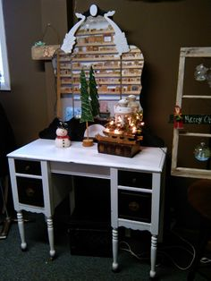 Re-purposed vintage furniture in The Painted Nook