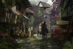 Caballero Edad Media Medieval town, Middle Ages Fantasía
