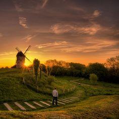 Moulin de Watten dans le département du Nord, entre Flandre et Artois.