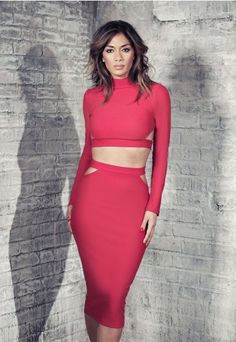 Nicole X Missguided Cut Out Crop Top Red