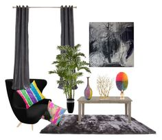 """""""rainbow colors X make it pop"""" by cheetakat12 ❤ liked on Polyvore featuring interior, interiors, interior design, home, home decor, interior decorating, Tom Dixon, Gold Sparrow, Kosta Boda and Waterford"""