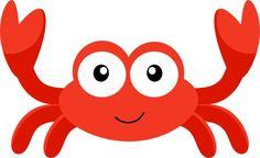 Crab aplique mar peixe on whales appliques and clip art Little Mermaid Parties, The Little Mermaid, Mermaid Kids, Crab Clipart, Cartoon Sea Animals, Shark Party, Under The Sea Party, Felt Patterns, Sea Theme