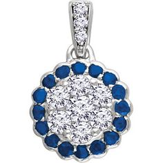 14kt #White #Gold #Blue #Sapphire & 1/3 CTW #Diamond #Pendant  #Jewelry #Diamonds #Jewelers #FineJewelry #Fashion  #Style #Bling #Neckalce #Earrings #Studs #Rings #Stackable #Dallas #Bridal #Weddings #Brides #Inspiration #BridalInspo #ShopOnline #FreeShipping #Diamond #Accessories #Trends #Cool #Love #RoseGold #YellowGold  #WhiteGold #Carats #Showcase