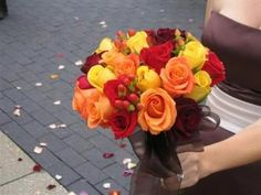 country fall wedding colors | FALL BOUQUETS - Simple wedding centerpieces and bouquets