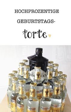 Gin Tonic Pie – the liquid gift for real men. Without baking and … - GiFTS Egg Fast, Gin And Tonic, Red Bull, Pin Collection, Whiskey Bottle, Diy Gifts, Diy And Crafts, Alcohol, Presents