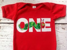 Choose color ONE TWO Very Hungry Caterpillar by PetitSophistique, $22.00