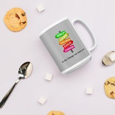 Be The Change You Want To See / White glossy mug - 15oz
