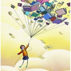 An eclectic collection of appealing photos, illustration and art. All photos belong to others,. I Love Books, Good Books, Books To Read, My Books, Reading Art, I Love Reading, Reading Room, Animation, World Of Books